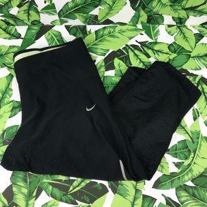 5 for $25 Nike Filament Black Mesh Crop Leggings